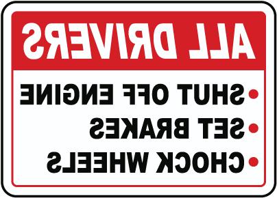 Truck Driver Parking Checklist Sign