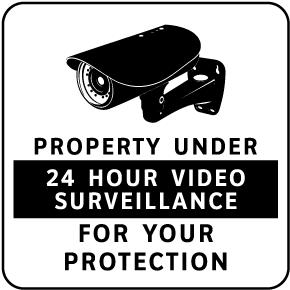 Property Under 24 Hour Surveillance Sign