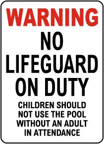 Arkansas No Lifeguard Sign