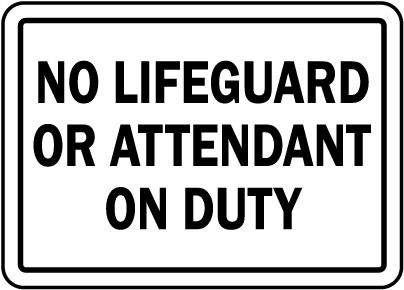 Oklahoma No Lifeguard Sign