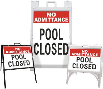 No Admittance Pool Closed Sandwich Board