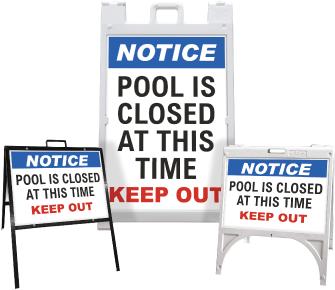 Notice Pool Is Closed Sandwich Board