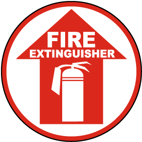 Fire Extinguisher Floor Sign