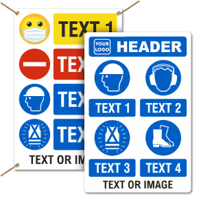Custom PPE Signs and Banners — 4 Images