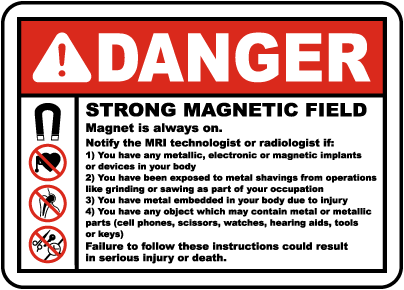 Strong Magnetic Field Is In Place Label