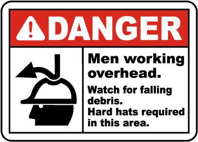 Watch For Falling Debris Hard Hat Sign