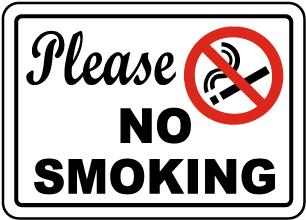Please No Smoking Sign