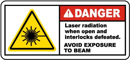 Laser Radiation When Open Label