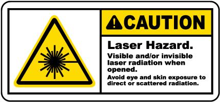 Laser Hazard Avoid Eye Exposure Label