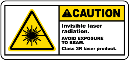 Invisible Laser Radiation Label