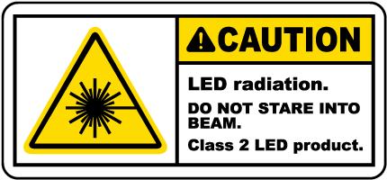 LED Radiation Class 2 LED Product Label