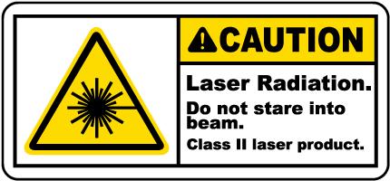 Laser Radiation Do Not Stare Label