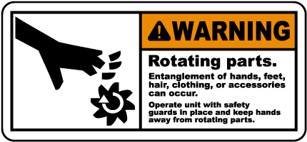 Rotating Parts Entanglement Label