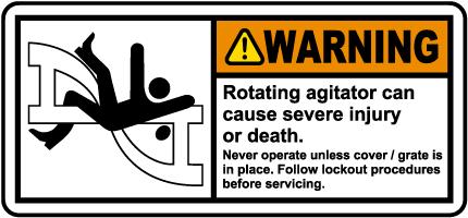 Rotating Agitator Lockout Label