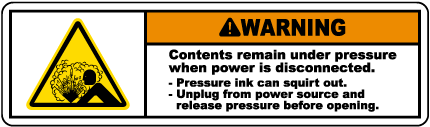 Contents Under Pressure Label