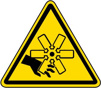 Rotating Blades / Cut Hazard Label