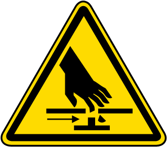 Pinch Point / Moving Parts Warning Label