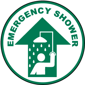 Emergency Shower Floor Sign
