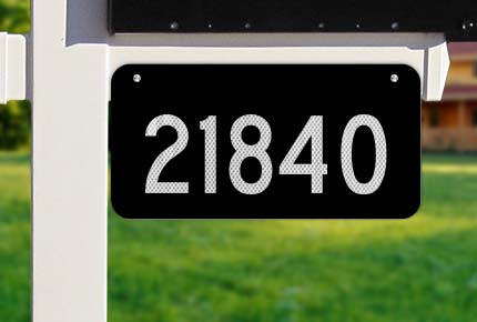 Black Horizontal House Number Sign