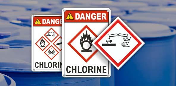 Chlorine GHS Signs