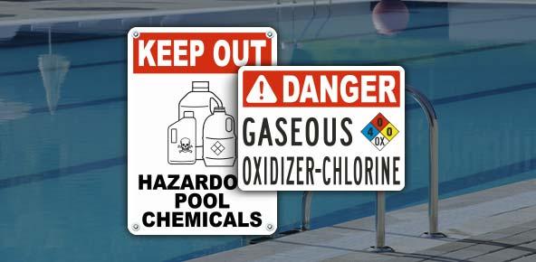 Chlorine Pool Chemical Signs