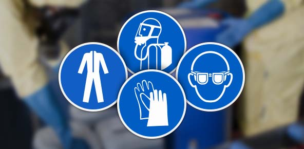 Chlorine PPE Signs