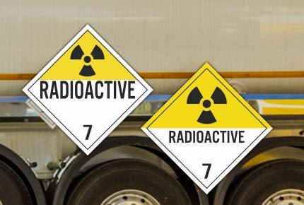 Hazard Class 7 Placards