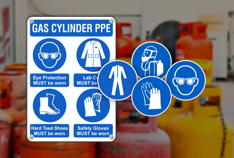 Gas Cylinder PPE Signs