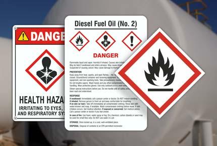 Diesel GHS Signs