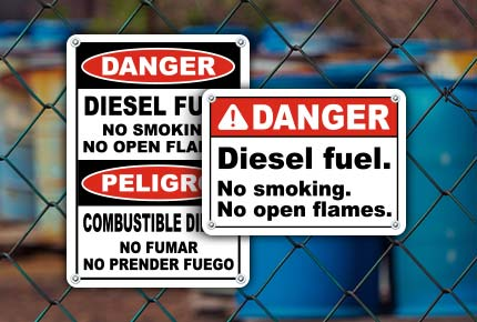 Diesel No Smoking Signs