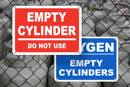 Empty Cylinder Signs