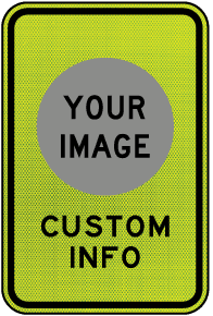 Custom Pedestrian Crossing Sign