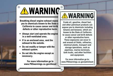 Prop 65 Diesel Signs