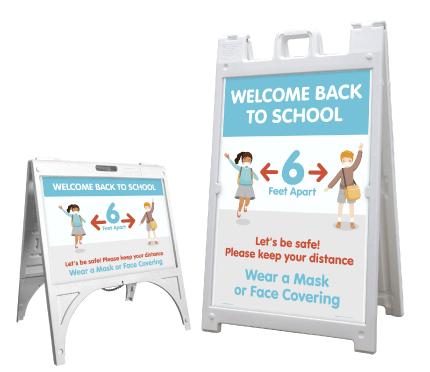 Welcome Back to School Wear a Mask Sandwich Board Sign