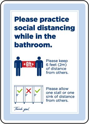 Bathroom Social Distancing Sign