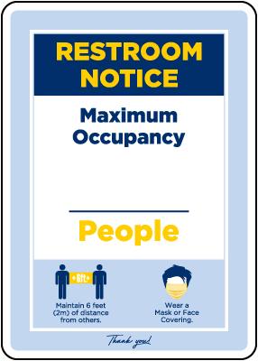 Restroom Notice Maximum Occupancy Sign