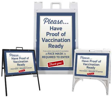 Have Proof of Vaccination Ready Sandwich Board Sign