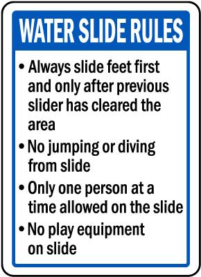 Arkansas Water Slide Rules Sign