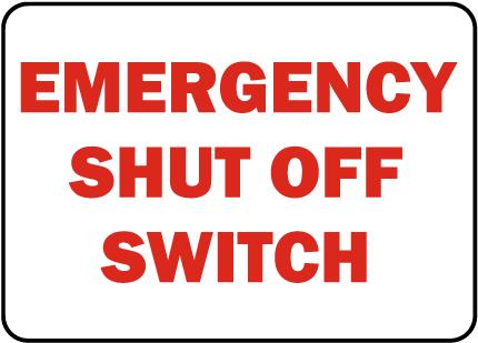 California Spa Shut Off Sign