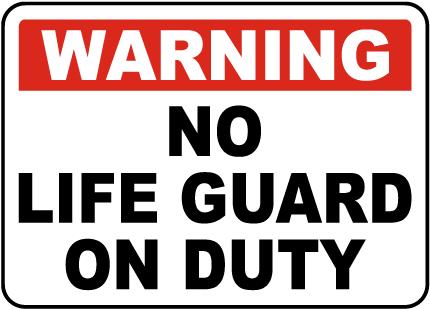 Georgia No Lifeguard Sign