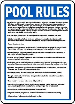 Illinois Pool Rules Sign