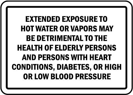 Nevada Water Temperature Sign