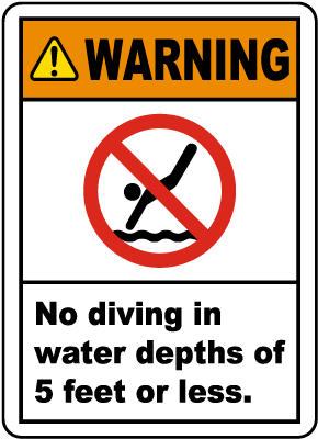 New Jersey No Diving Sign