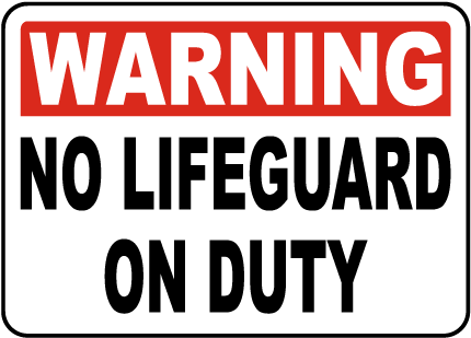 New Hampshire No Lifeguard Sign