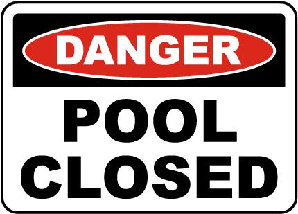Ohio Pool Closed Sign