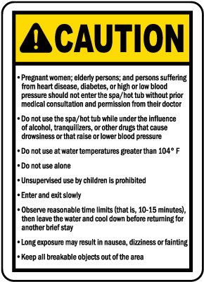 Vermont Spa Rules and Warnings Sign