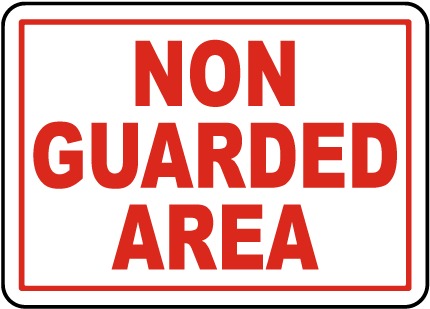 Wisconsin Non Guarded Area Sign