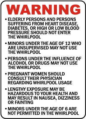 Wisconsin Whirlpool Warning Sign