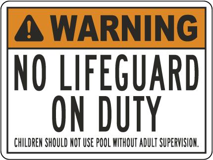 Alaska Warning No Lifeguard On Duty Sign