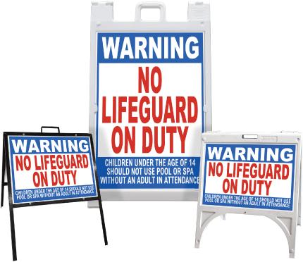 Alaska Warning No Lifeguard On Duty Sandwich Board